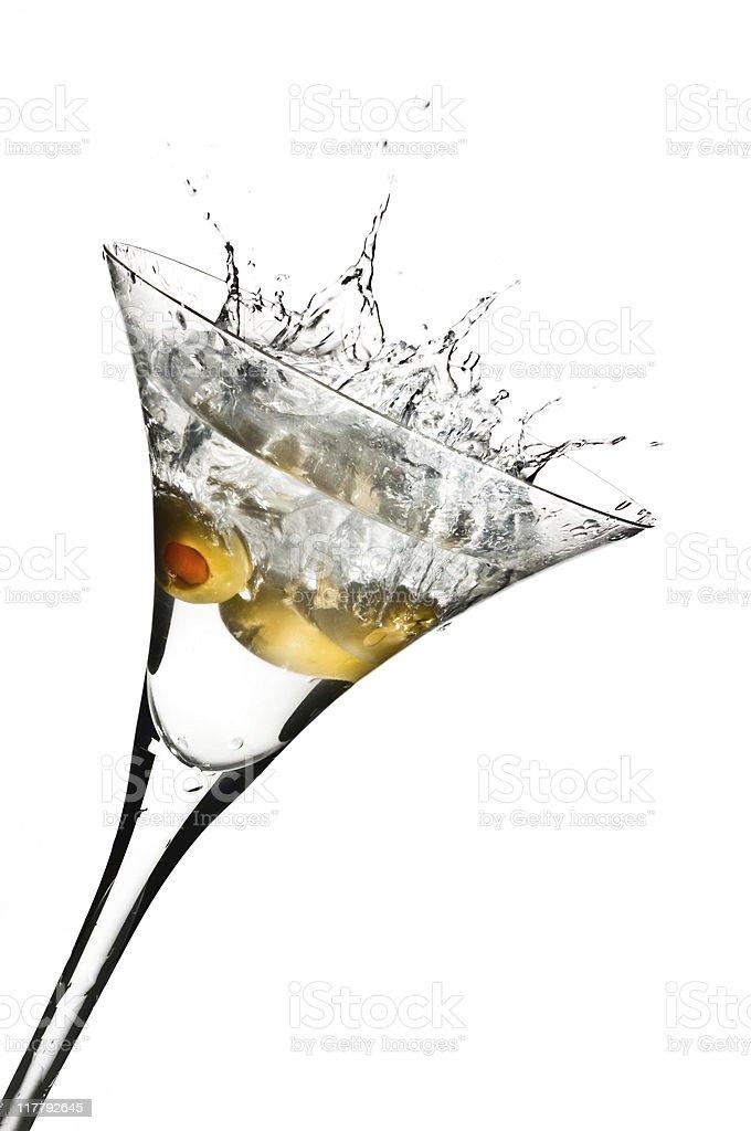 Olive Martini Splash! royalty-free stock photo