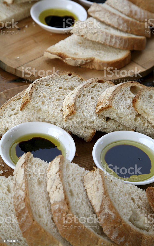 Olive oil and Balsamic royalty-free stock photo
