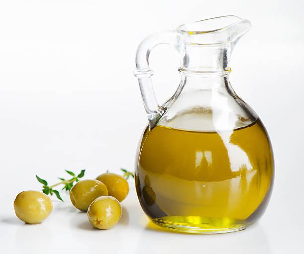 Aceite de oliva y de aceitunas - foto de stock