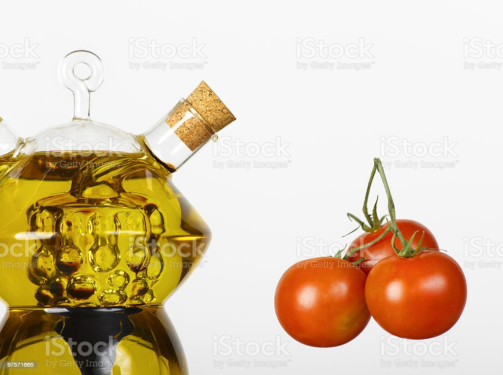 olive oil and tomato royalty-free stock photo