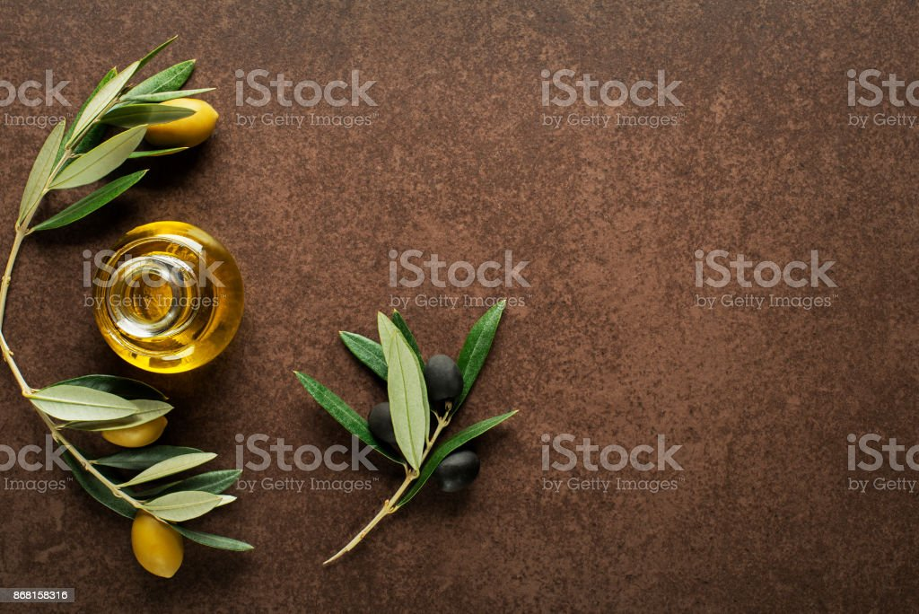 Olive oil background stock photo