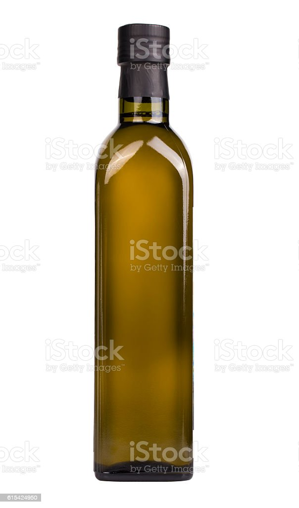 Olive oil bottle isolated on the white stock photo