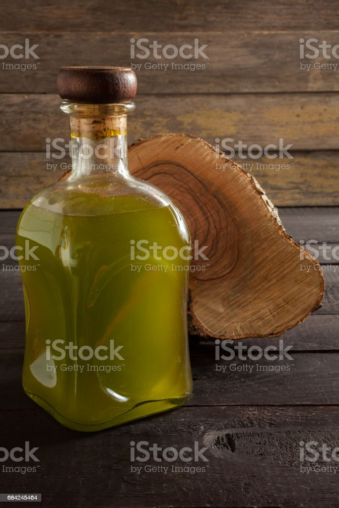 Olive oil bottle royalty-free stock photo