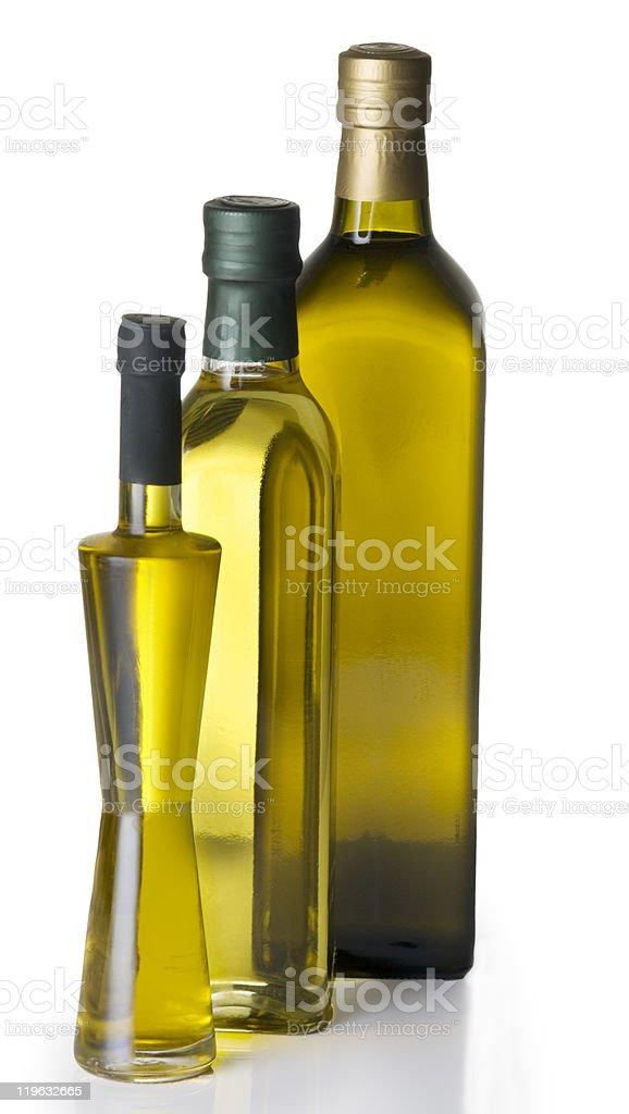 Olive oil bottles royalty-free stock photo