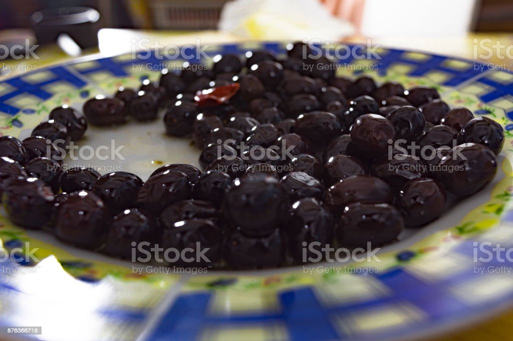 Olive oil Extravirgin, olive from South Italy, Aspromonte stock photo