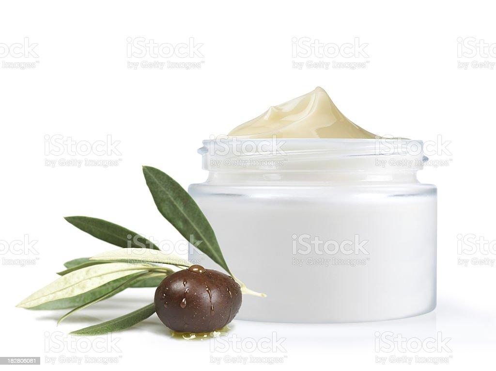 Olivenöl face cream Lizenzfreies stock-foto