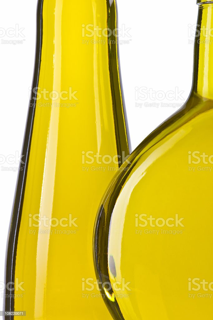 Olive Oil in Bottles, Isolated on White royalty-free stock photo