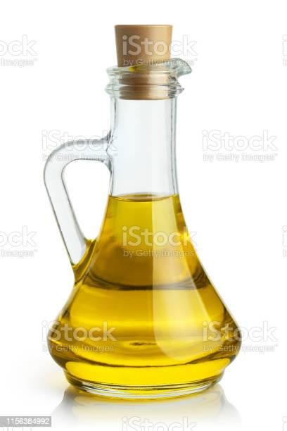 Photo of Olive oil on white