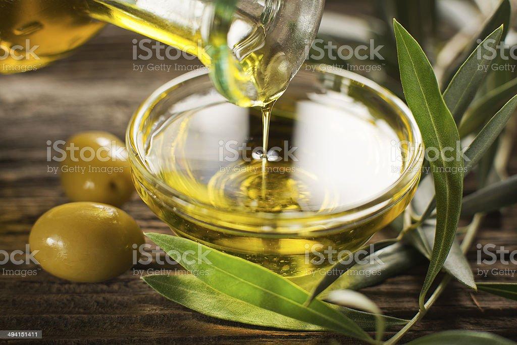Aceite de oliva - foto de stock