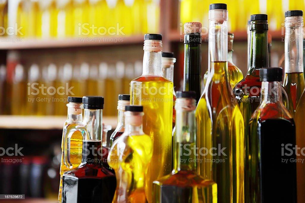 Loja de azeite - fotografia de stock