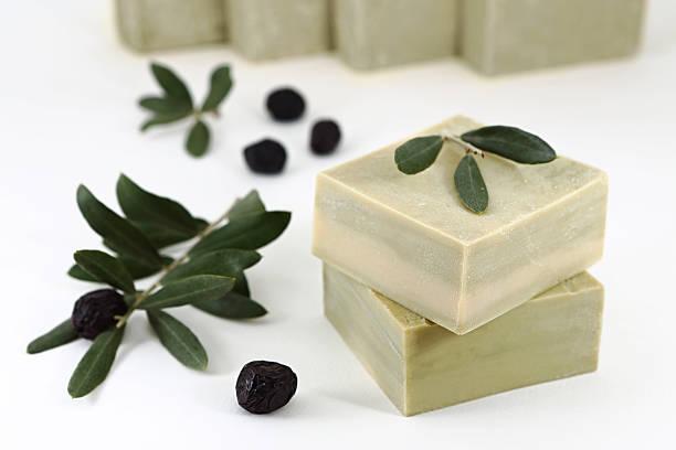Olive Oil Soap stock photo