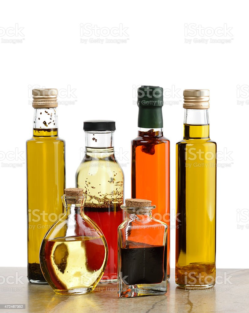 Olive Oil,Salad Dressing And Vinegar stock photo