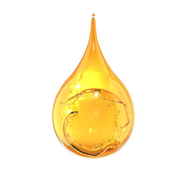 オリーブやエンジン油のドロップは、白い背景の分離します。 - 水滴 ストックフォトと画像