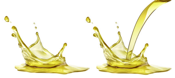 Olive or engine oil splash, cosmetic serum liquid isolated on white background. 3d illustration Olive or engine oil splash, cosmetic serum liquid isolated on white background. 3d illustration olive oil stock pictures, royalty-free photos & images