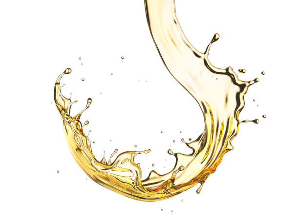 Olive or engine oil splash isolated on white background. Olive or engine oil splash isolated on white background, 3d illustration with Clipping path. cooking oil stock pictures, royalty-free photos & images