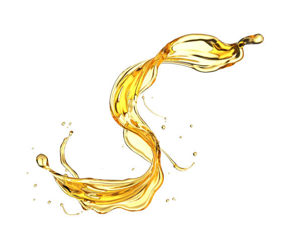 Olive or engine oil splash. Olive or engine oil splash, Golden Cosmetic Liquid isolated on white background, 3d illustration with Clipping path. cooking oil stock pictures, royalty-free photos & images