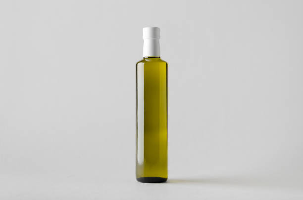 oliv / sonnenblumen / sesam öl flasche mock-up - erdnusssalatdressings stock-fotos und bilder