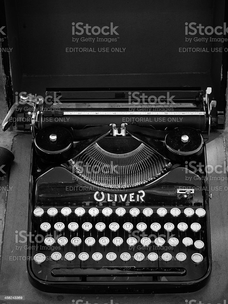 Oliver portable typewriter royalty-free stock photo