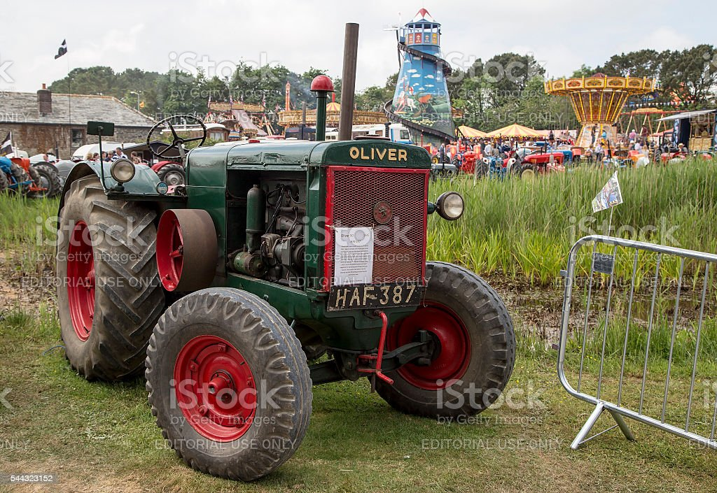 Oliver tractor stock photo
