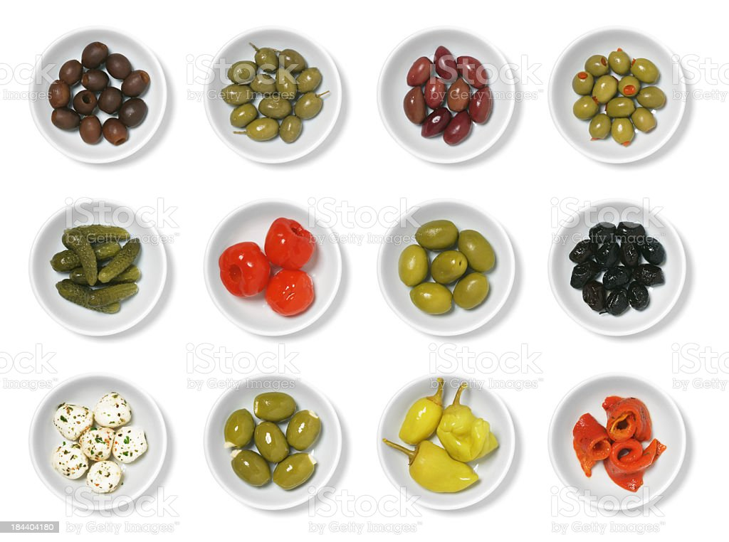 Olives and Antipasto stock photo