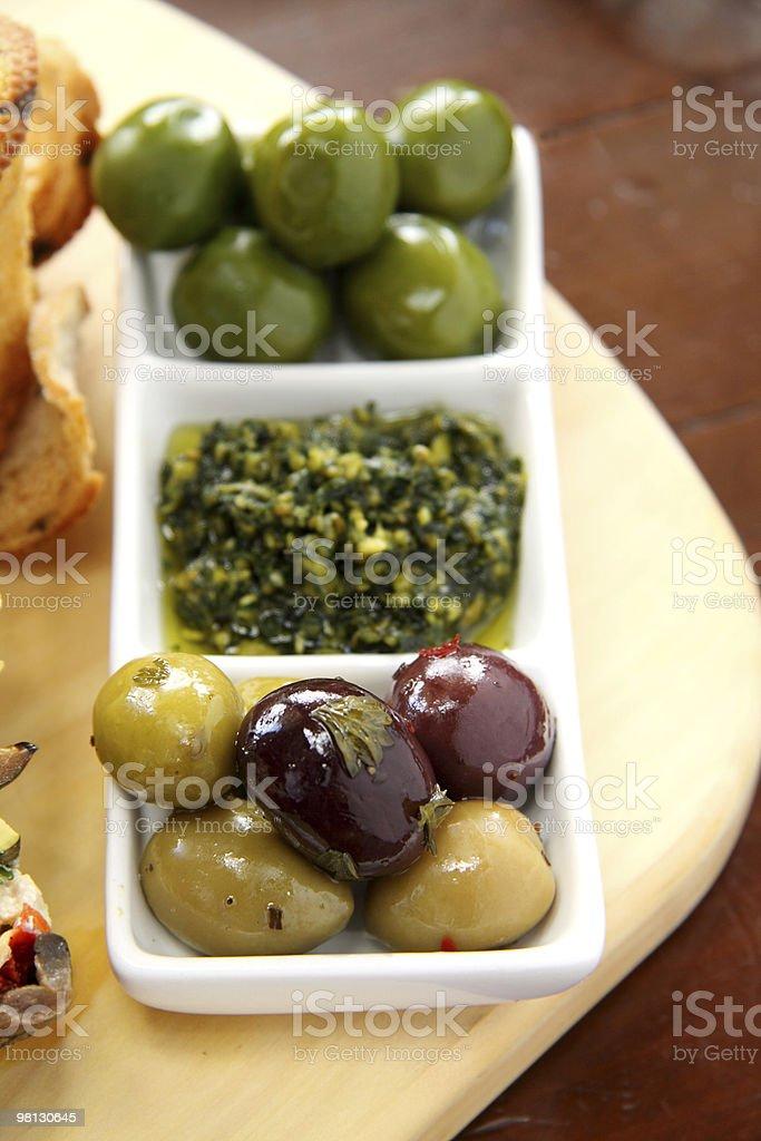 Olives And Pesto royalty-free stock photo
