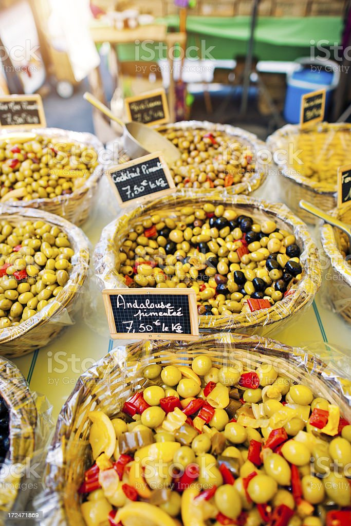Olives for sale royalty-free stock photo