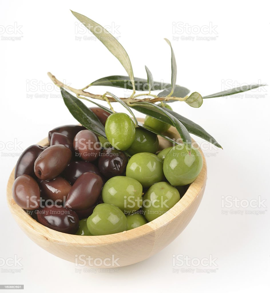 Olives in a bowl royalty-free stock photo