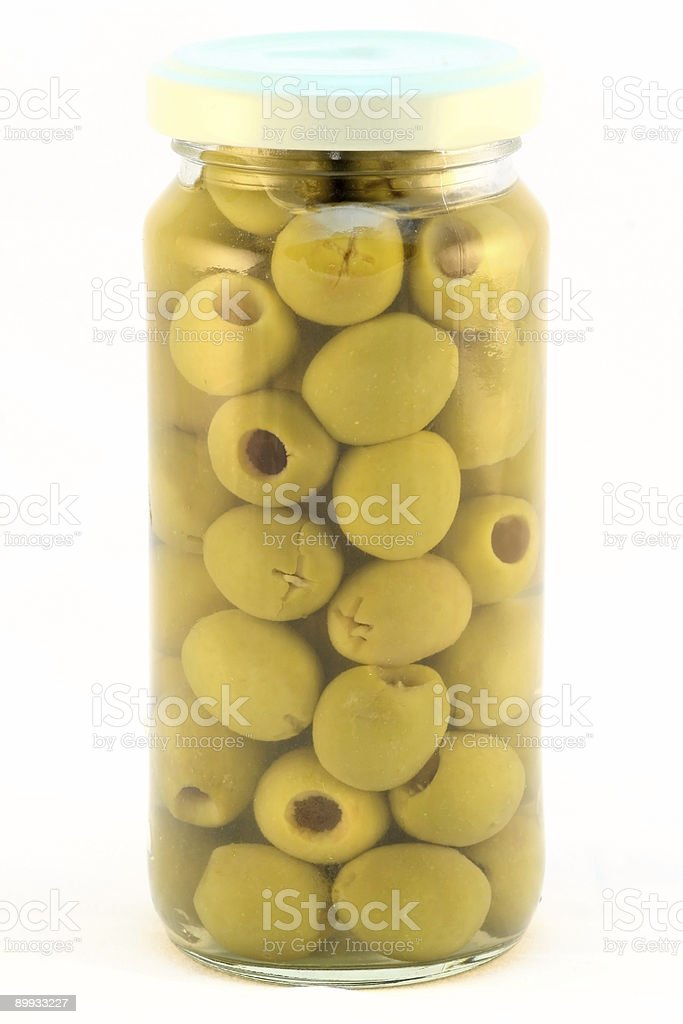 Olives in glass royalty-free stock photo