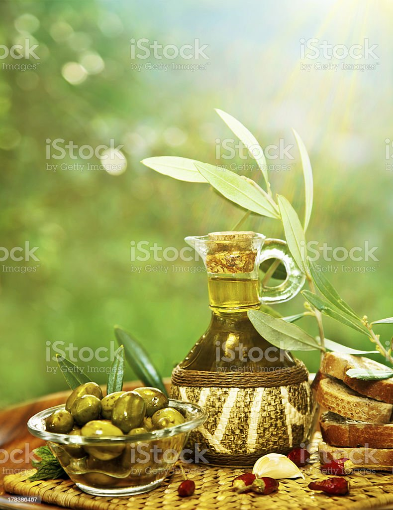 Olives in morning garden royalty-free stock photo