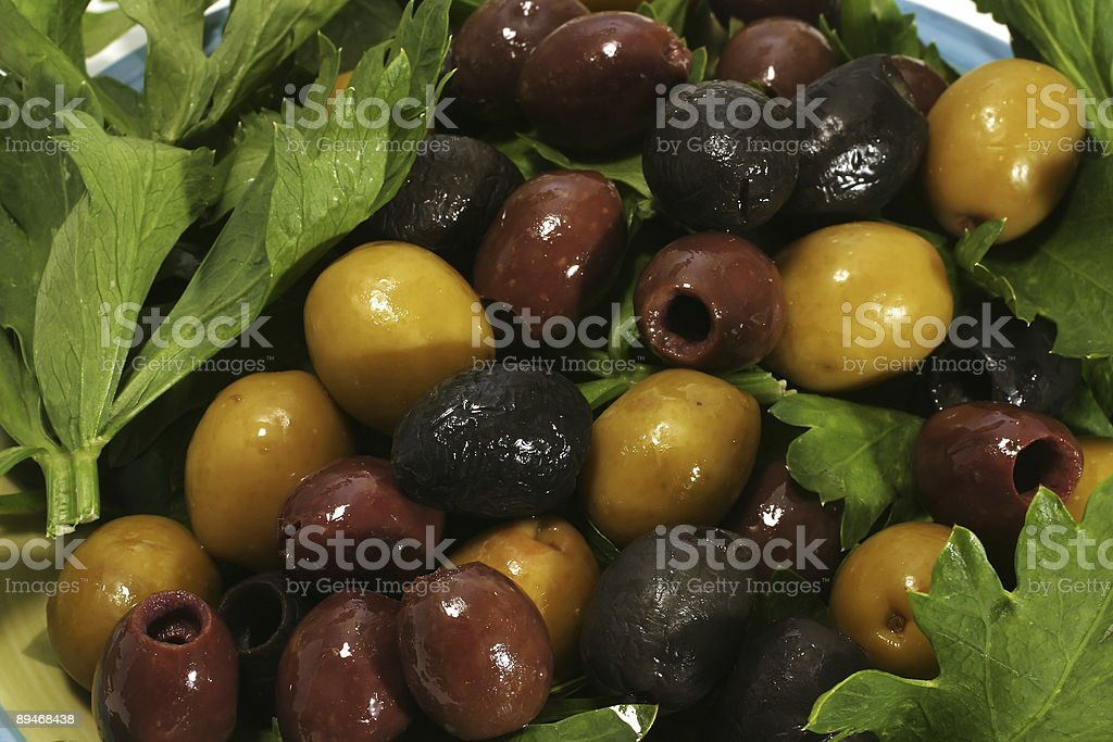 olives on leafs royalty-free stock photo