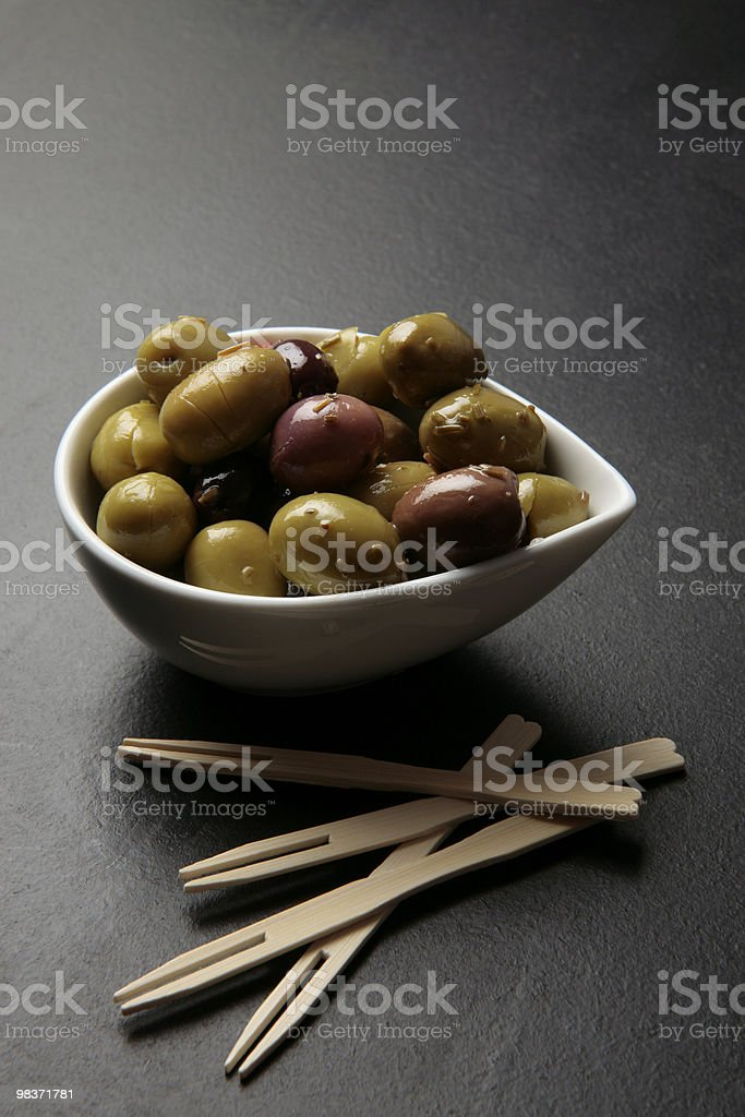 Olive tapas diverse foto stock royalty-free