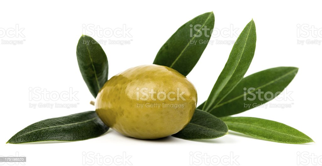 Olives with leaves stock photo