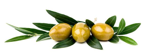 Oliven mit Blätter – Foto