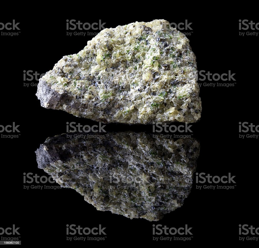 Olivine mineral rock stock photo