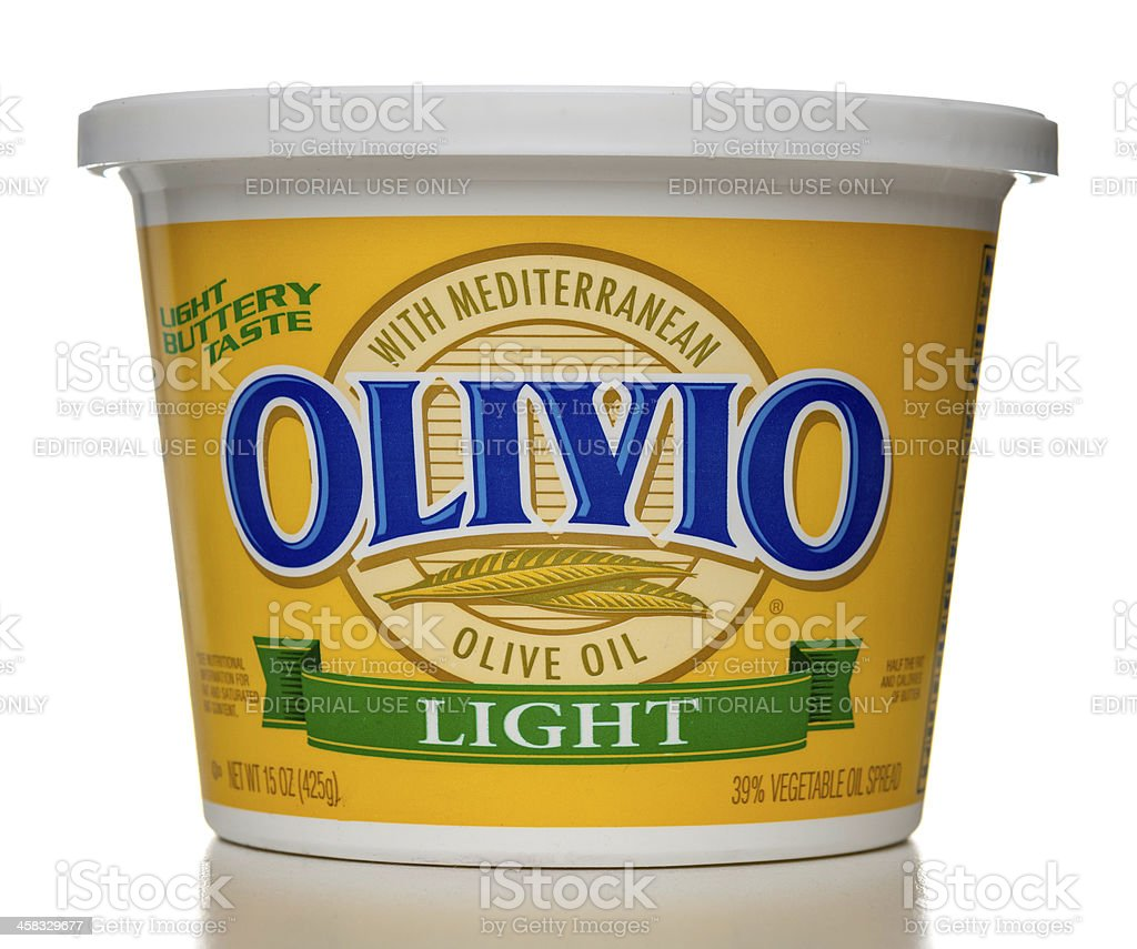 Olivio Light Buttery Taste Spread with Mediterranean Olive Oil royalty-free stock photo
