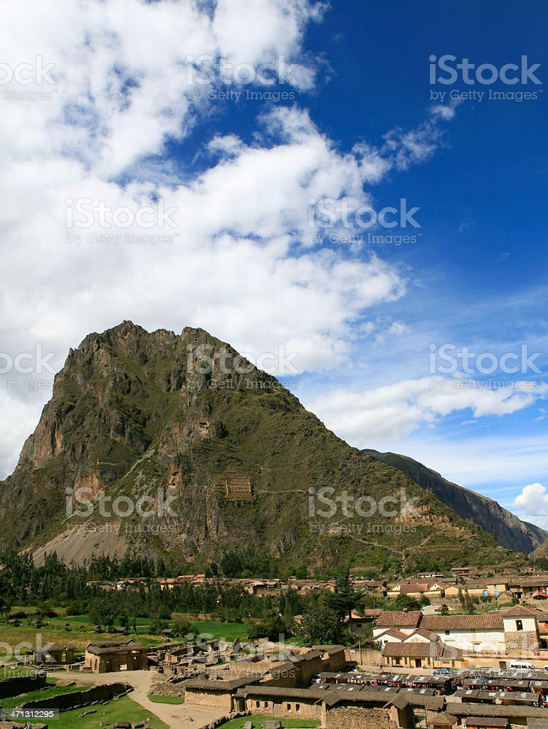 Ollantaytambo - Sacred Valley of the Incas, Peru stock photo