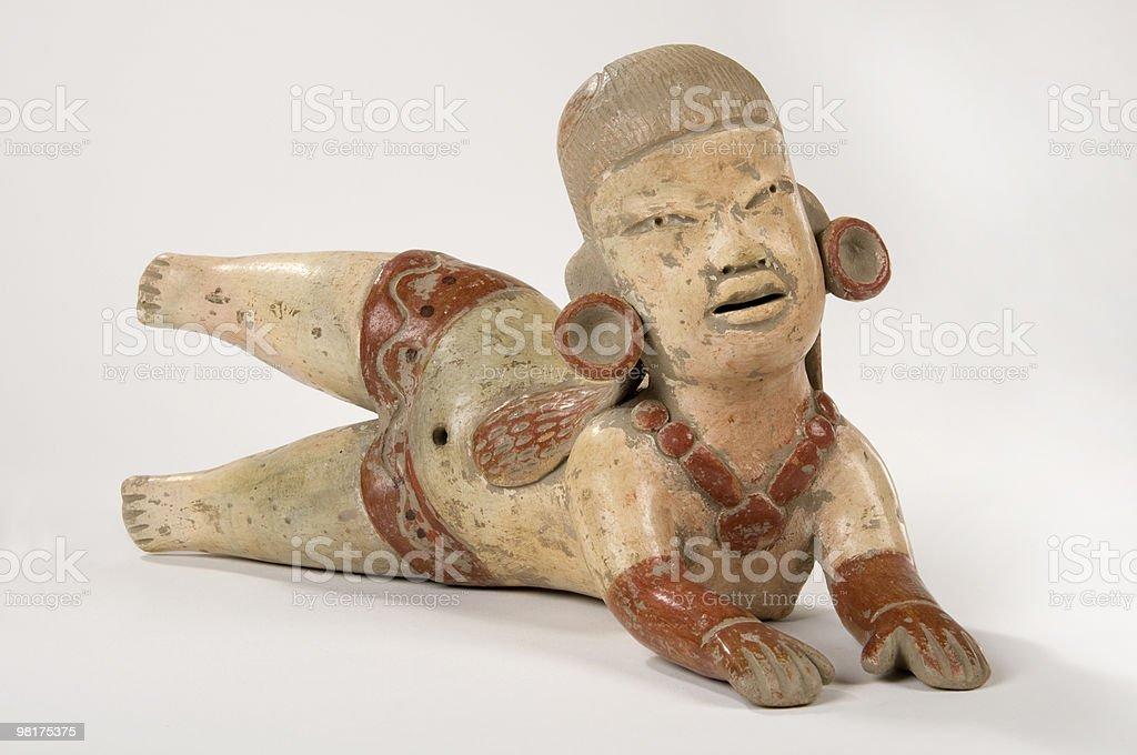 Olmec Clay Doll stock photo