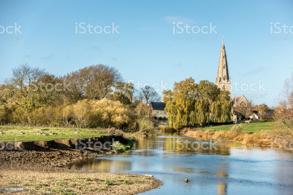 Olney in Buckingahmshire stock photo
