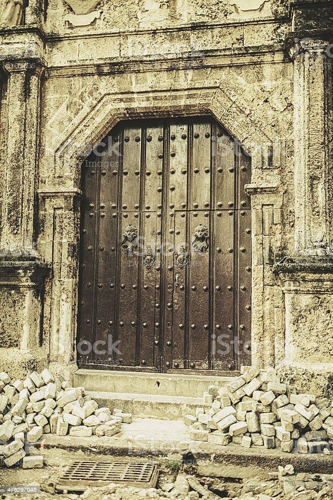 olonial Catedral in old Havana stock photo