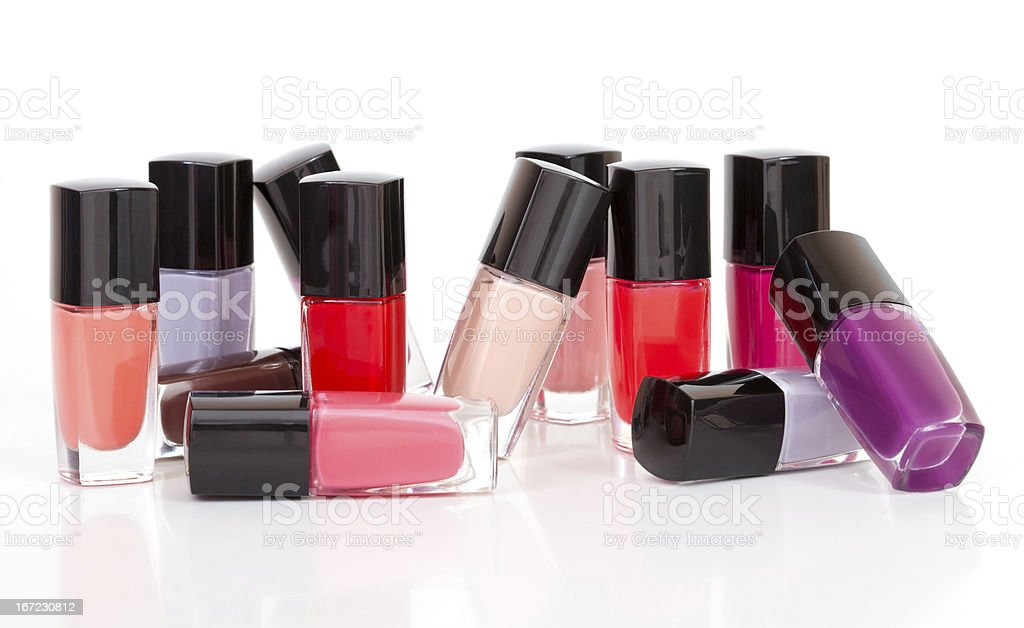Сolored varnishes in different provisions royalty-free stock photo