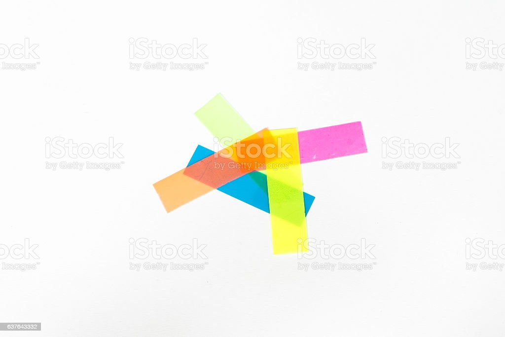 olour tabs for bookmarks isolated on white background stock photo