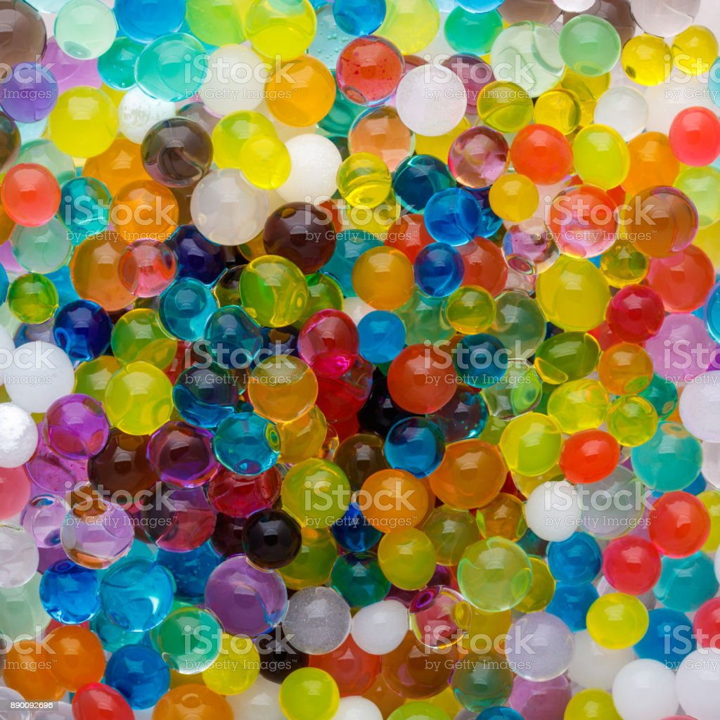 oloured texture of ball, Background color of the hydrogel beads stock photo
