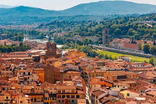 Oltrarno and Porta San Niccolo in Florence, Italy