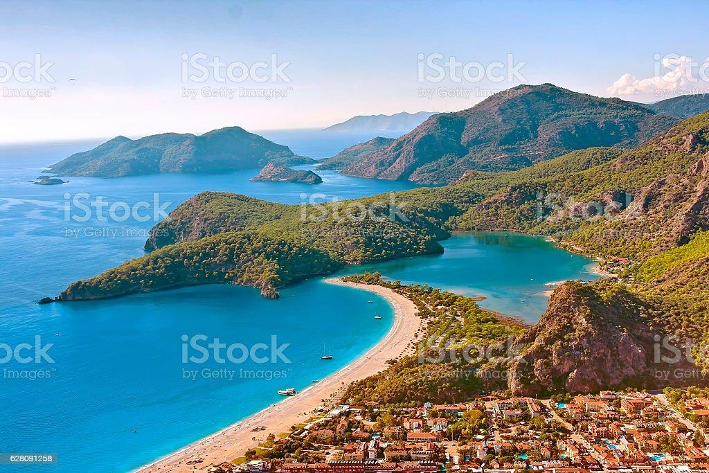 Oludeniz beach, Turkey stock photo