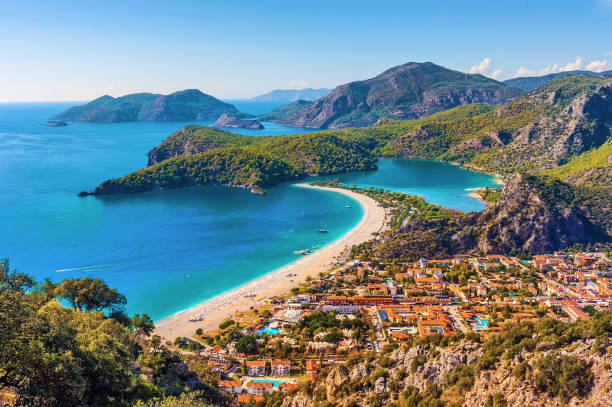 oludeniz beach, Turkey oludeniz beach and lagoon Turkey turkish stock pictures, royalty-free photos & images