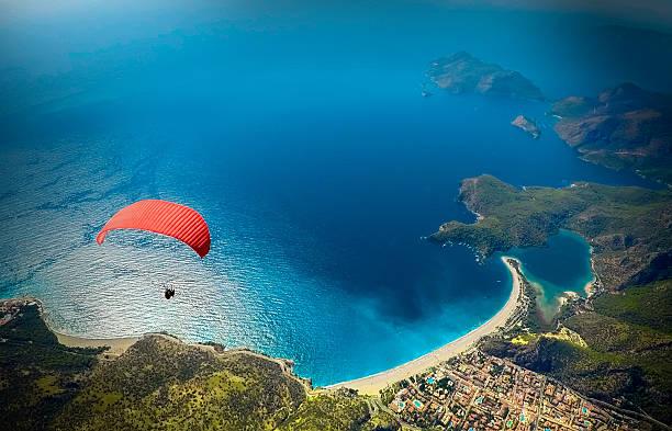 oludeniz fethiye turkey - fallskärm bildbanksfoton och bilder
