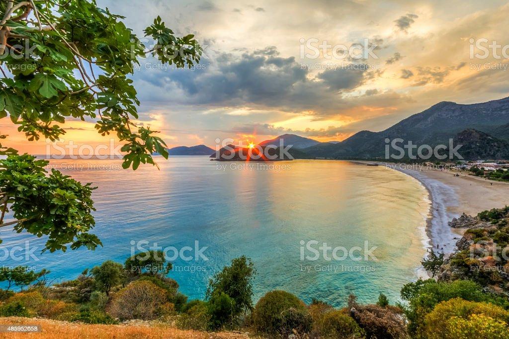 Oludeniz Sunset stock photo