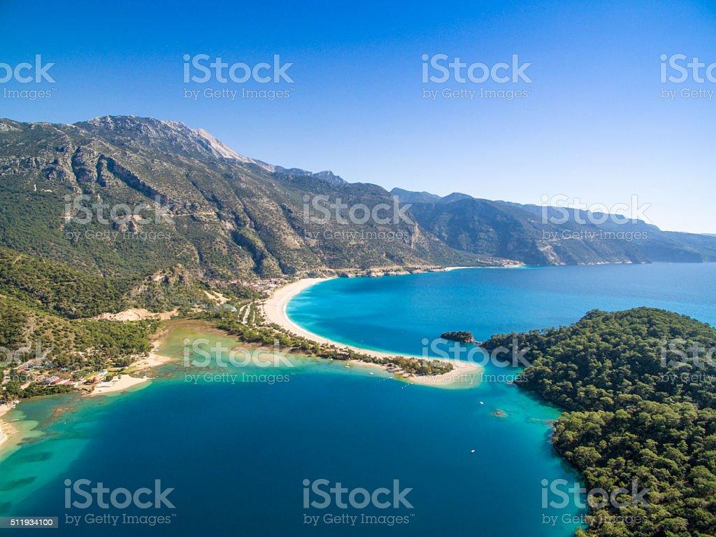 Oludeniz Turkey Aerial View stock photo