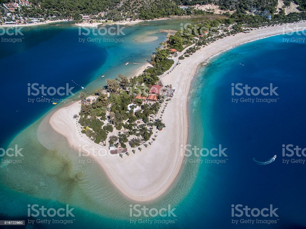 Oludeniz Turkey Aerial View stock photo