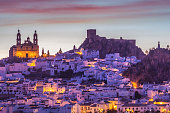 Olvera - panorama of the city. Olvera, Andalusia, Spain.